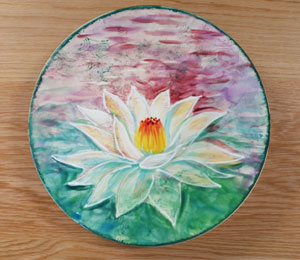 Wayne Lotus Flower Plate