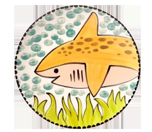 Wayne Happy Shark Plate