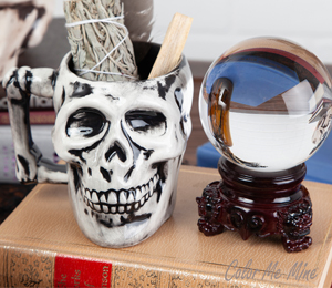 Wayne Antiqued Skull Mug