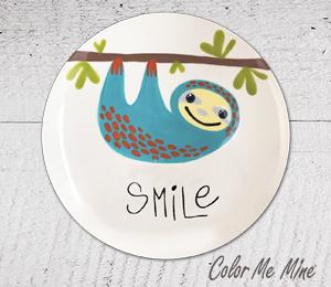 Wayne Sloth Smile Plate